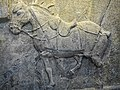 Emperor Taizong Horse Relief, Quanmaogua limestone 636-649 CE Tang Dynasty Shaanxi Province China Penn Museum.jpg