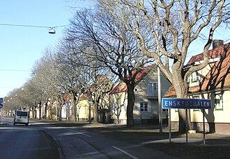 Enskededalen - Enskededalen at the road Gamla Tyresövägen