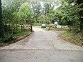 Entrance to Usk Castle visitors' car park - geograph.org.uk - 2094276.jpg