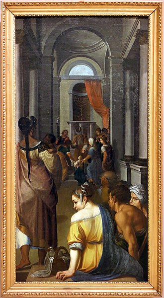 Ercole dell'Abate - Virgin Mary presented to the Temple, Galleria estense