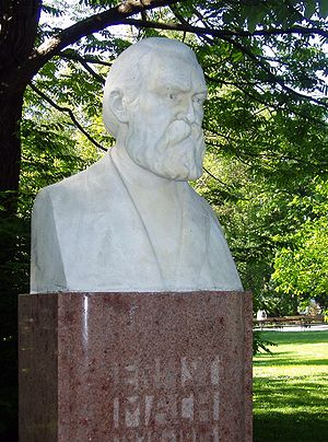 Ernst Mach - Bust of Mach in the Rathauspark (City Hall Park) in Vienna, Austria