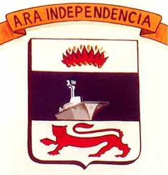 HMS Warrior (R31) - ARA Independencia badge
