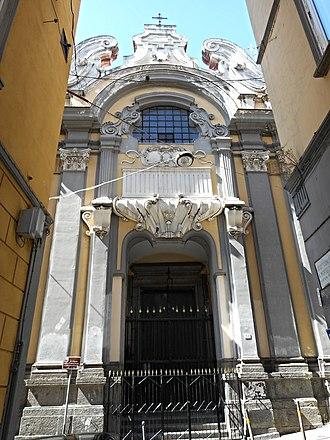 Santa Maria della Concezione a Montecalvario - Image: Esterno Concezione Mont