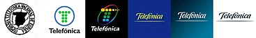 Telefónica logo evolution