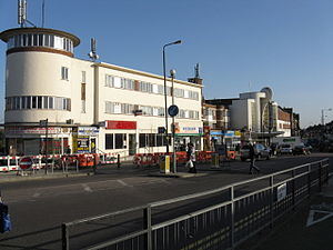 Rayners Lane - The Art Deco Zoroastrian centre (right)