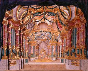 Les fêtes de Paphos - Set design for the Palace of Venus.