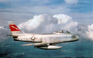 563d Flying Training Squadron - North American F-86F-35-NA Sabre Serial 53-1117 of the 563d TFS.   In 1957 this aircraft was transferred to the Norwegian Air Force