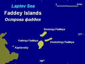 Faddey Islands - The Faddey Islands are located northeast of Faddey Bay