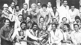 Descarga - Fania All-Stars in Venezuela, 1980. Fania All-Stars were responsible for the popularization of salsa, especially salsa dura, a style which relied on the descarga format with long jams and extended soloing.