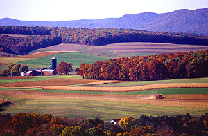 Schuylkill County, Pennsylvania - Farming near Klingerstown, Pennsylvania.