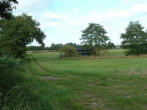 Farmland. Farmland - looking NE into square