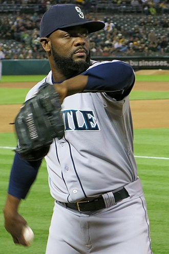 Fernando Rodney - Rodney pitching in bullpen with the Seattle Mariners in 2014
