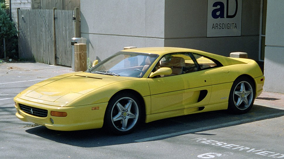 Ferrari F355 in front of the ArsDigita offices taken by Hans Masing in July 2000