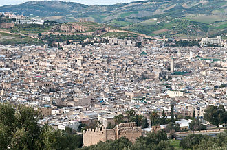 Fez, Morocco - View of the old medina of Fez