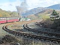 Ffestiniog train leaving Dduallt for Blaenau - geograph.org.uk - 1552720.jpg