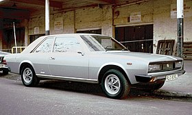 Fiat 130 Coupe at Earls Court.jpg