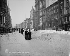 Fifth Avenue - Fifth Avenue after a snow storm in 1905