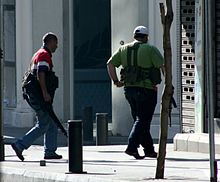 Armed Fighters Near The Crowne Plaza In Beirut On May 9
