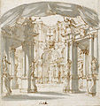 Filippo Juvarra, Courtyard of a Palace, Project for a Stage.jpg