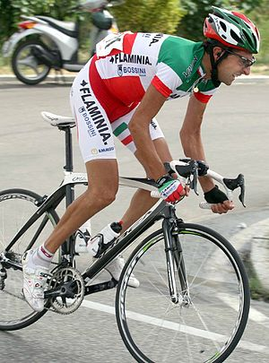 Italian National Road Race Championships - Filippo Simeoni with the tricolor jersey in 2008