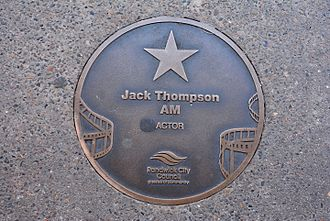 Jack Thompson (actor) - Thompson's plaque at the Australian Film Walk of Fame, the Ritz Cinema, Randwick, Sydney