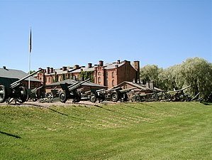 The Artillery Museum of Finland - Some of the guns that are located in the gun yard.