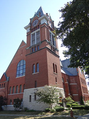 National Register of Historic Places listings in Manistee County, Michigan - Image: First Congregational Church of Manistee, Michigan