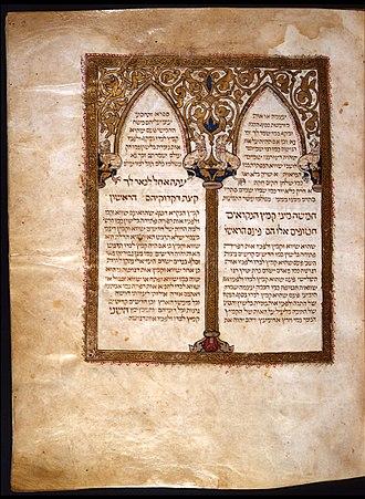 David Kimhi - Image: Fl 2 Biblia de Cervera, Tratado da grammatica de David Qimhi
