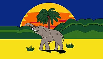 Gold Coast (region) - Image: Flag of Gold Coast (Flag of Ghana)