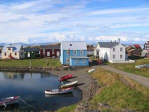 Flatey, Breiðafjörður - The village in Flatey