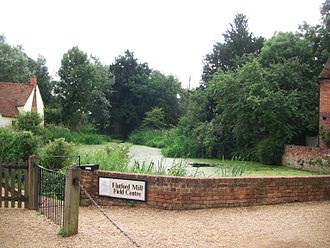 Flatford Mill - The site where The Hay Wain was painted, as it exists in 2010, where it is primarily a tourist destination.