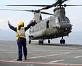 Flight Deck Crew Marshalling Chinook Helicopter MOD 45154842.jpg