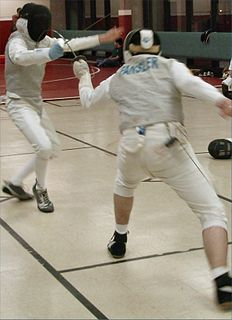 Attack (fencing) offensive movement in fencing