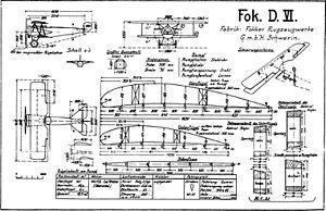 Fokker D.VI - Fokker D.VI drawing