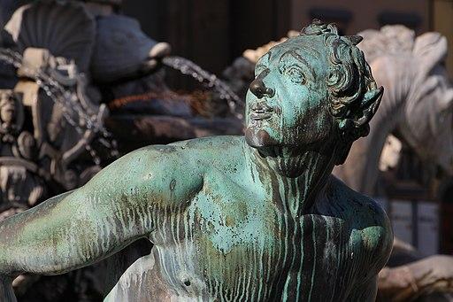 FGiambologna e Bartolomeo Ammannati, Fontana del Nettuno (dettaglio, satiro del Giambologna), Piazza della Signoria, Firenze
