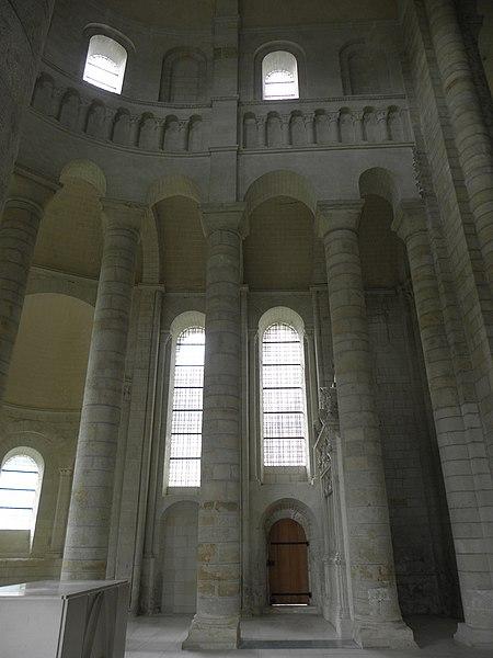 Élévationdu chœur de l'abbatiale de Fontevraud (49).
