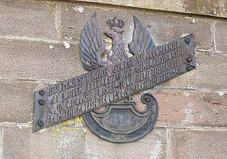 Forfar - Memorial plaque to the Polish Army in Forfar.