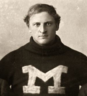 Forrest M. Hall - Hall cropped from 1895 Michigan team portrait