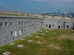 Fort Knox (Maine) - Image: Fort Knox Courtyard