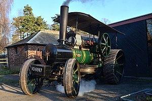 Nottingham Industrial Museum - A Fowler ploughing steam engine exhibit
