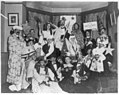 Frances Benjamin Johnston, with friends at costume party, bottom center LCCN2006688465.jpg