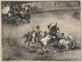 Francisco de Goya - The Bulls of Bordeaux- Picador Caught by a Bull - 1951.79 - Cleveland Museum of Art.tif