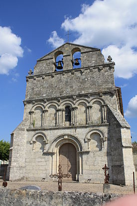 Francs -33- Eglise Saint-Martin sa façade photo n° 92.JPG