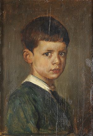 Rupprecht, Crown Prince of Bavaria - Portrait of Rupprecht as a child by Franz von Lenbach c. 1874.