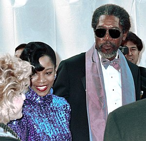 Morgan Freeman - Freeman and daughter Morgana Freeman at the 1990 Academy Awards