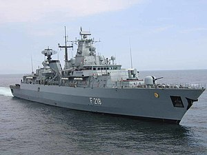 April 2009 raid off Somalia - The German frigate Mecklenburg-Vorpommern