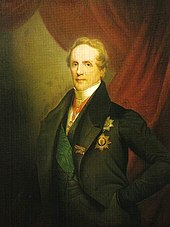 King Friedrich August II of Saxony on a painting by Carl Vogel von Vogelstein, around 1836