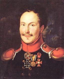 Friedrich de la Motte-Fouqué in Husarenuniform