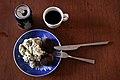 Frikadeller, kartoffelsalat, danskvand og kaffe (5675442466).jpg