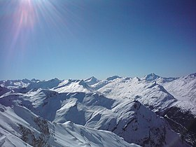 From Pizzo Badile to Pizzo Stella from Piz Alv.JPG